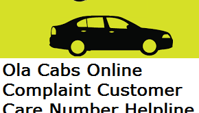 Ola Cabs Online Complaint Customer Care Number