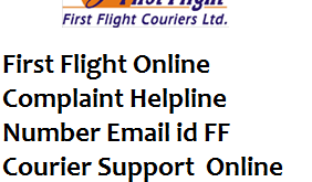 First Flight Online Complaint Helpline Number Email id FF Courier